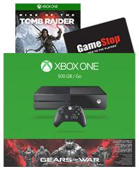 $349.99 Xbox One 500GB Gears of War Ultimate Edition Free Rise of Tomb Raider & $50 GC