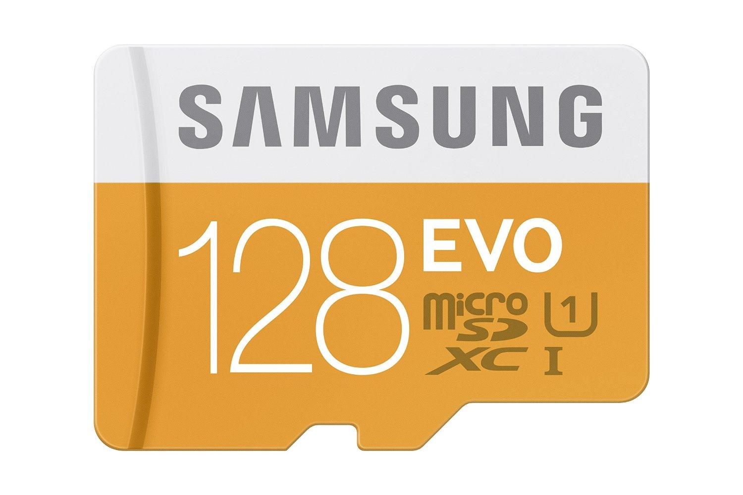 Samsung microSDXC 128GB EVO Memory Card with Adapter