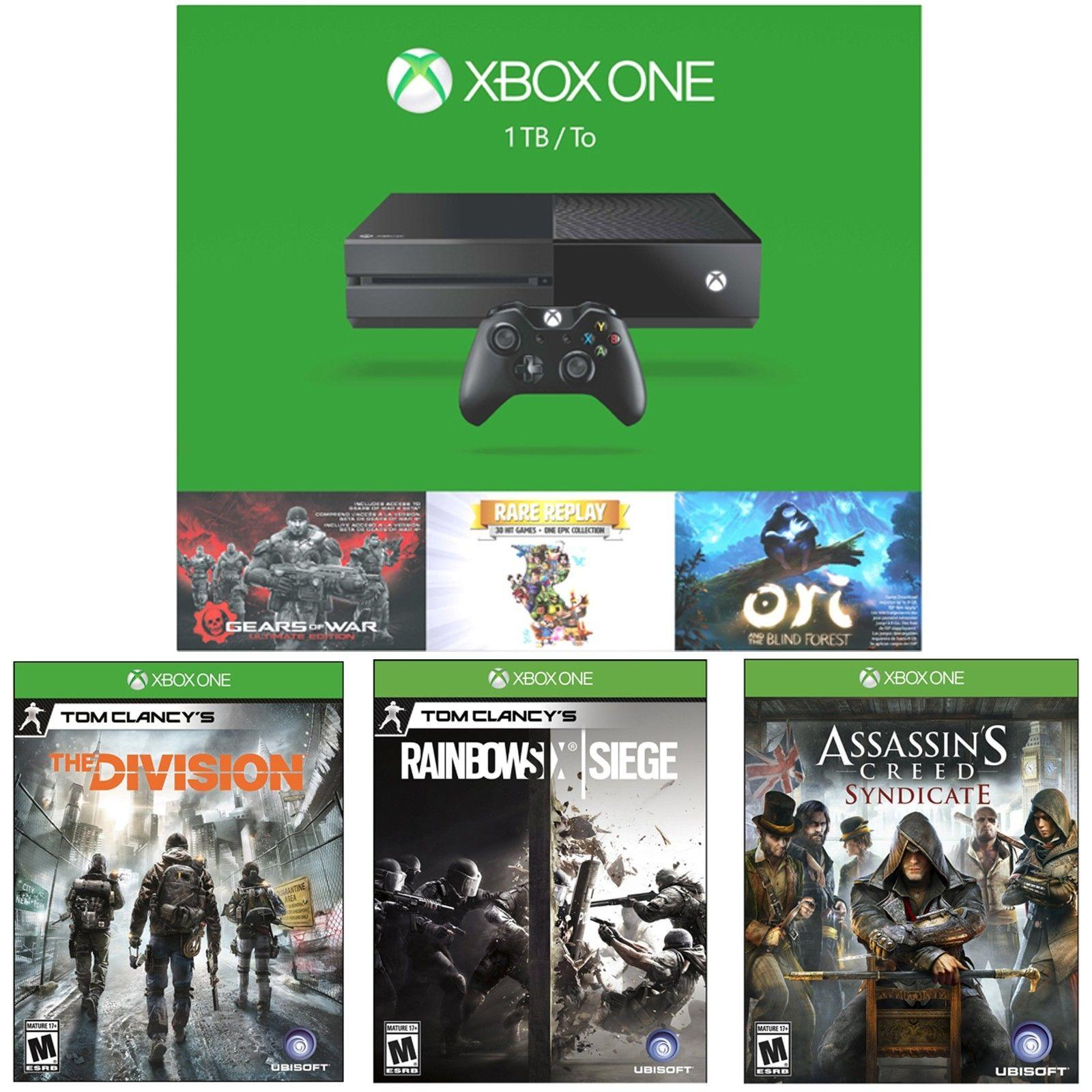 $399 Xbox One 1TB Holiday Bundle+Tom Clancy's Division+Rainbow Six Siege+Assassin's