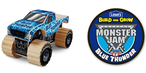 Free Monster Jam Featuring Blue Thunder Build and Grow Event