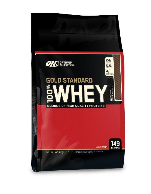 $89.59 Optimum Nutrition 100% Whey Gold Standard, Double Rich Chocolate, 10 Pounds Bags