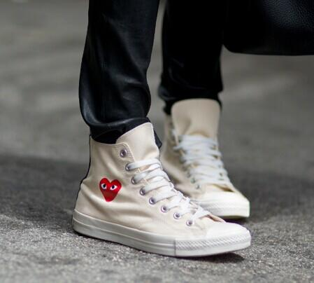 10% Off Comme des Garcons Play  Canvas Lace-Up Sneakers @ Saks Fifth Avenue