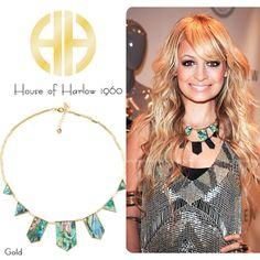 House of Harlow 1960 Abalone Stations Necklace