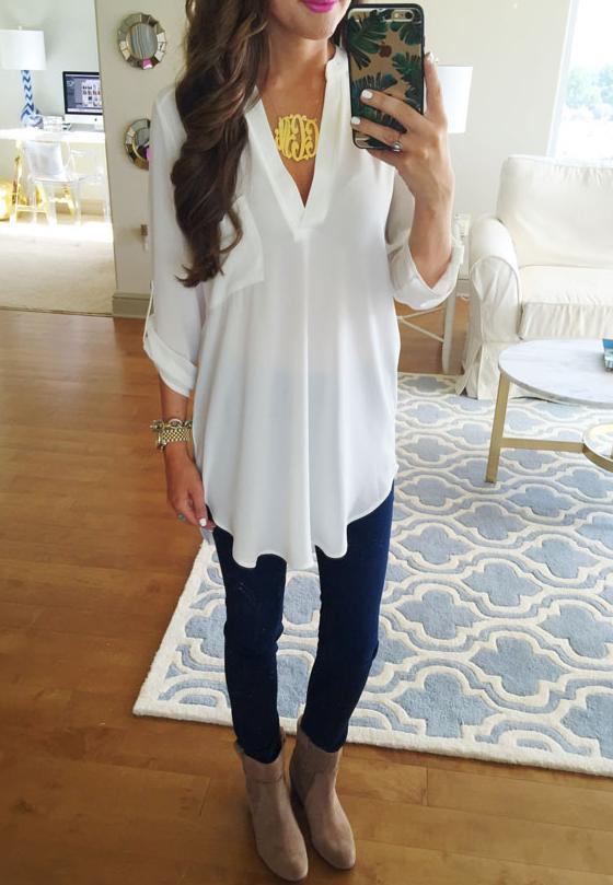 $27.9 Lush 'Perfect' Roll Tab Sleeve Tunic On Sale @ Nordstrom