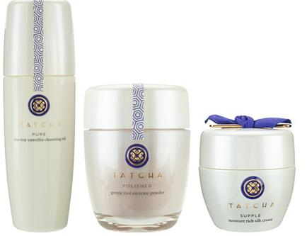 TATCHA Cleansing Oil, Enzyme Powder & Silk Cream