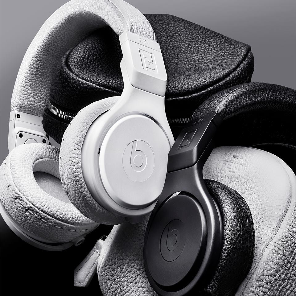 $1200+$300 Gift Card Beats by Dr. Dre FENDI White Beats On-Ear Headphones