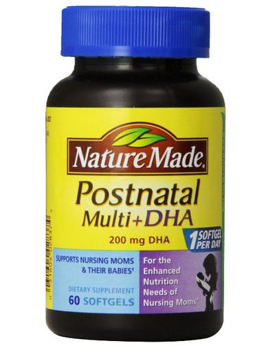 $8.04 Nature Made Postnatal Multi-Vitamin Plus DHA Softgels, 60 Count
