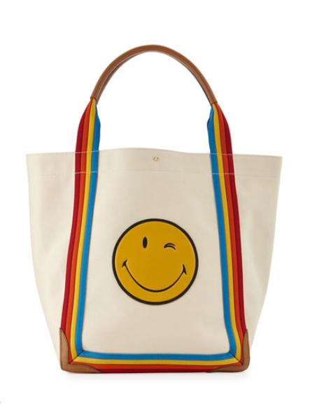 $150 GIFT CARD Anya Hindmarch Pont Wink Canvas Tote Bag @ Neiman Marcus