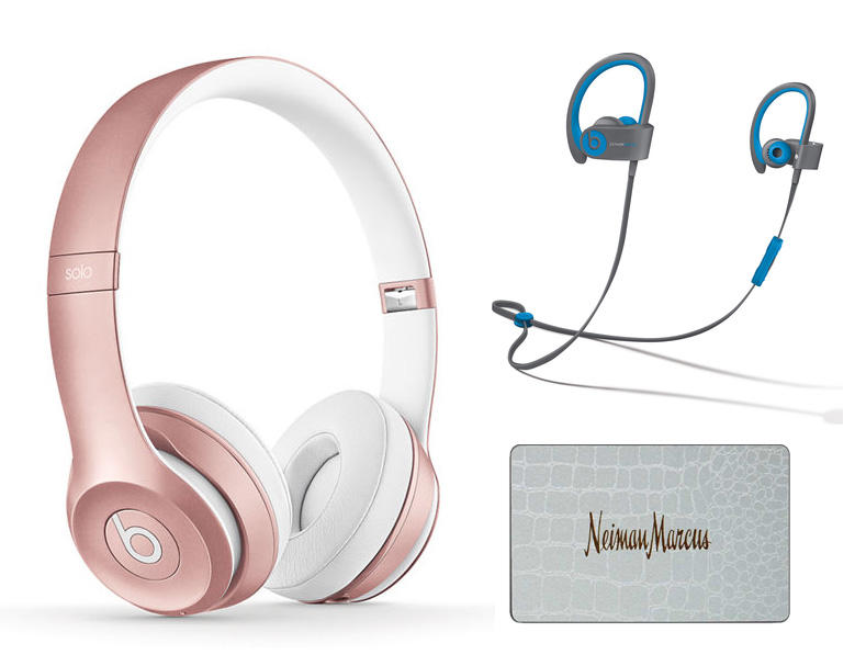 $500 + $150 Gift Card Beats Solo2 Wireless On-Ear Headphones - Rose Gold + Powerbeats2 Wireless Sport Earphones