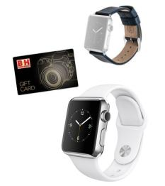 $449 Apple  Watch 38mm Smartwatch MJ302LL/A(Stainless Steel)+ Free Premium Band+ $75 GC