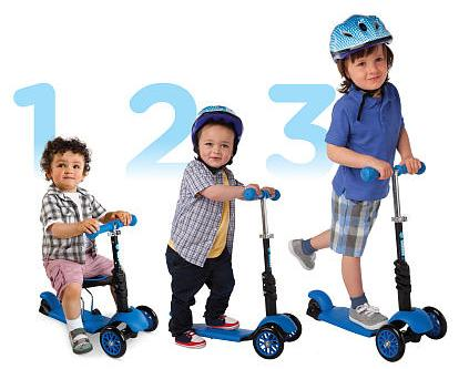 Xtreme Free Mini 3-in-1 Kid Scooter(for 1 to 7 Year-old) @ Amazon