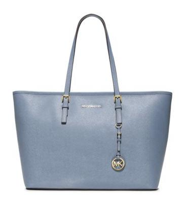 MICHAEL MICHAEL KORS  Jet Set Travel Saffiano Leather Top-Zip Tote