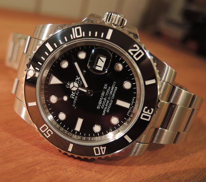 Rolex Oyster Perpetual Submariner Black Dial Black Cerachrom Bezel Steel Men's Watch 116610LN