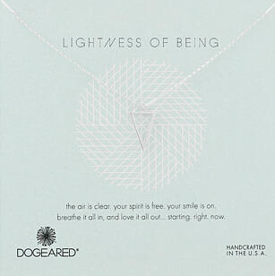 Dogeared Lightness Of Being Air Triangle Necklace