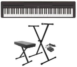 Yamaha P-45 88-Key Digital Piano Black W/On-Stage Keyboard Stand/Bench Pack