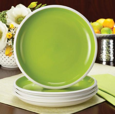 Rachael Ray Dinnerware Rise Collection 4-Piece Stoneware Salad Plate Set @ Amazon