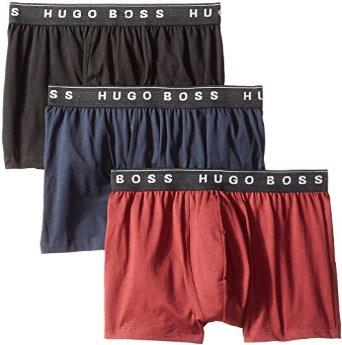 BOSS HUGO BOSS Men's 3-Pack Assorted Cotton Trunk