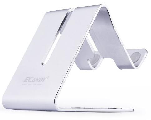 Ecandy Solid Aluminum Desktop Stand for samrtphone or tablet