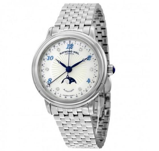 RAYMOND WEIL Maestro Moonphase Automatic Mother of Pearl Dial Ladies Watch@JomaShop.com