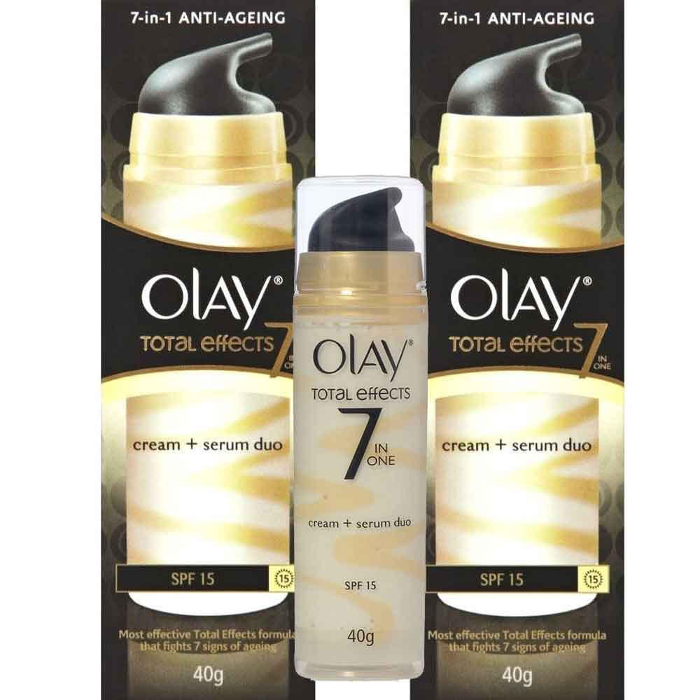 2 Pk Olay Total Effects 7-in-1 Anti-Aging Fairness Cream SPF 15 Moisturizer 40g