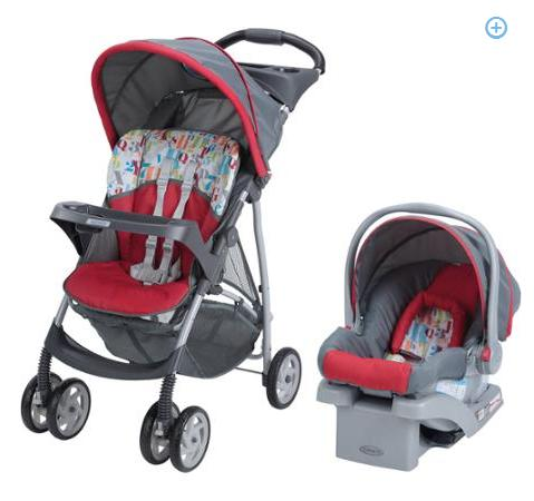 Graco LiteRider Click Connect Travel System, with SnugRide Click Connect 22 Infant Car Seat
