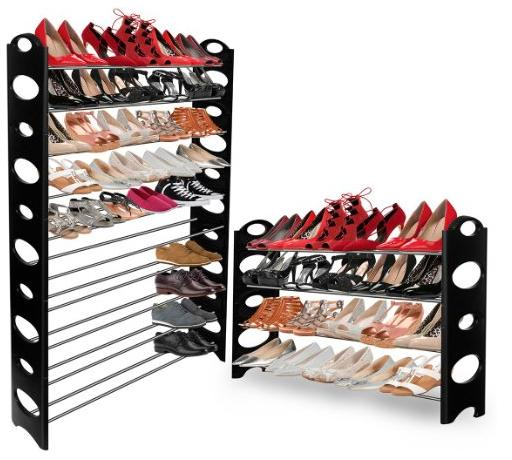 OxGord® Shoe Rack Storage Organizer, 10-Tier 50-Pair High Quality Portable Wardrobe Closet Bench Tower @ Amazon