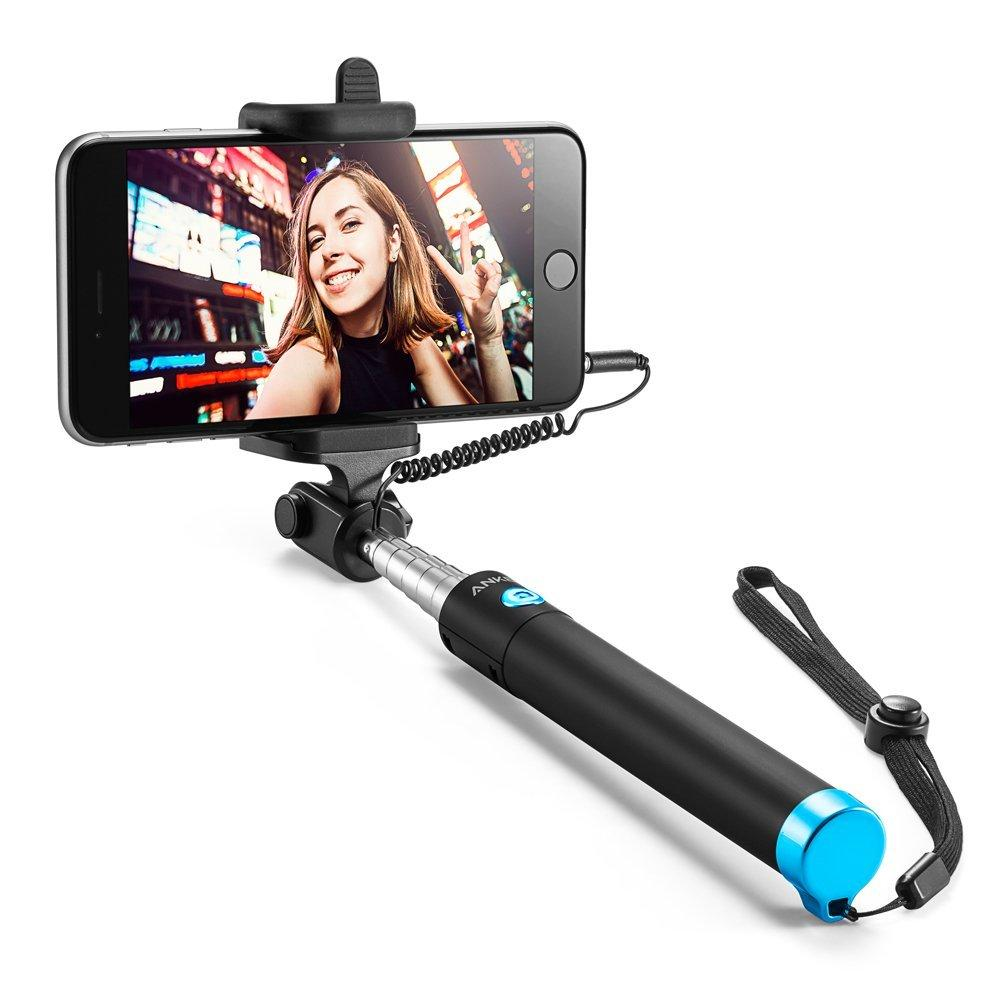 Anker Selfie Stick Extendable [Battery Free] Wired Handheld Monopod for iPhone, Galaxy, Nexus and More