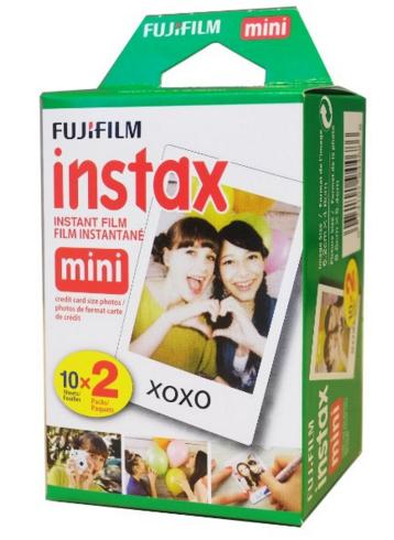 #1 Best seller! $12.48 Fujifilm Instax Mini Instant Film Twin Pack (White)