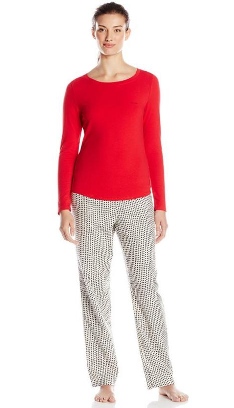 Calvin Klein Women's Flannel Pajama Sleep Set @ Amazon