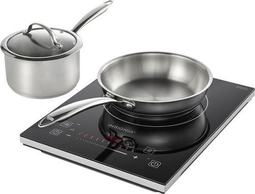 Insignia - 4-Piece Induction Cooktop Set - Black