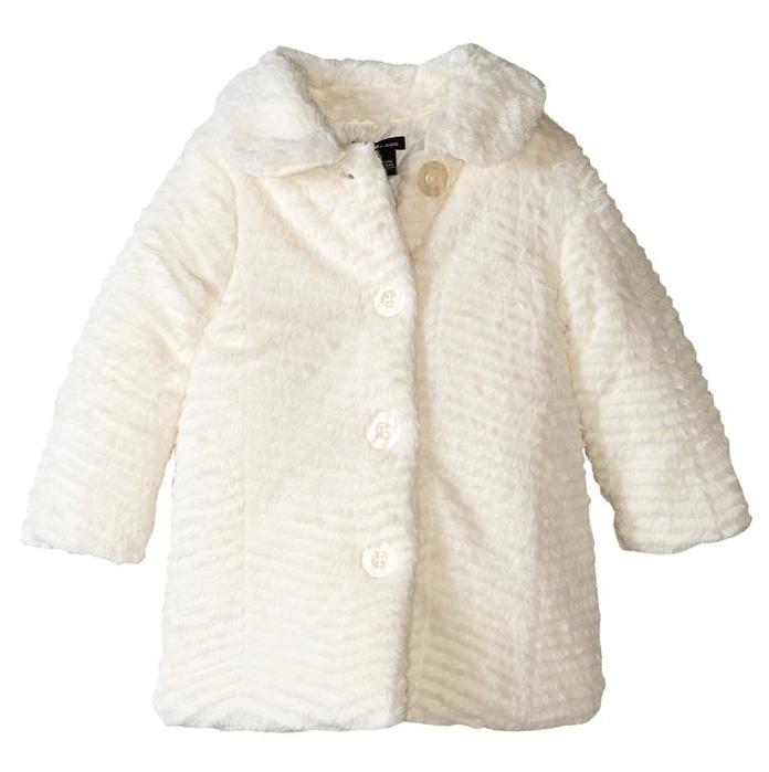 Calvin Klein Girls' Faux Fur Jacket