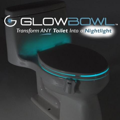 $19.99 GlowBowl - Motion Activated Toilet Nightlight (Fits ANY Toilet)