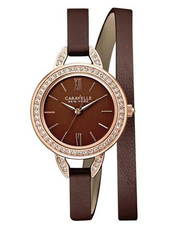 Caravelle New York Women's 44L130 Analog Display Japanese Quartz Brown Watch