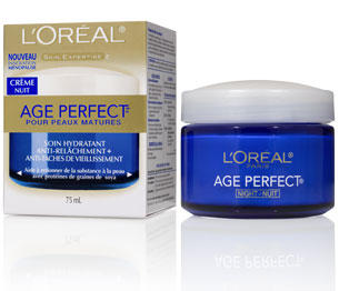 L'Oreal Paris Age Perfect Night Cream, 2.5 Fluid Ounce