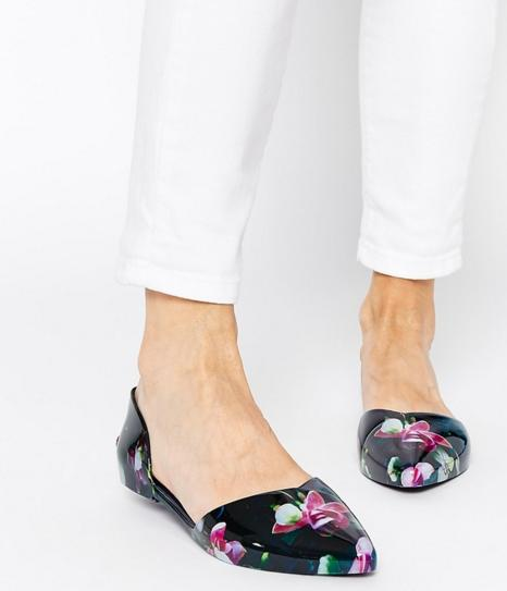 $51 Ted Baker London 'Rikyu' Jelly d'Orsay Flat (Women) On Sale @ Nordstrom
