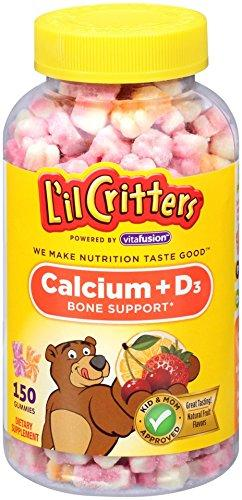 $6.26 L'il Critters Calcium Gummy Bears with Vitamin D3, Fun Swirled Flavor, 150 Count
