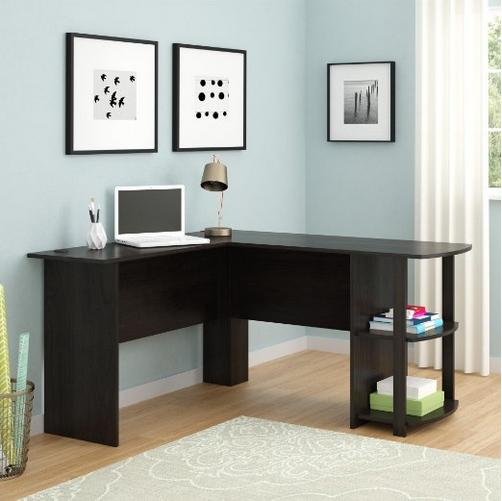 Ameriwood L-Shaped Desk with Bookshelves