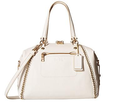 COACH Whiplash Leather Prairie Satchel