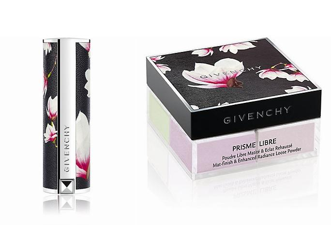 New Release Givenchy launched new magnolia pattern Le Rouge Lipstick and Prisme Libre Loose Powder