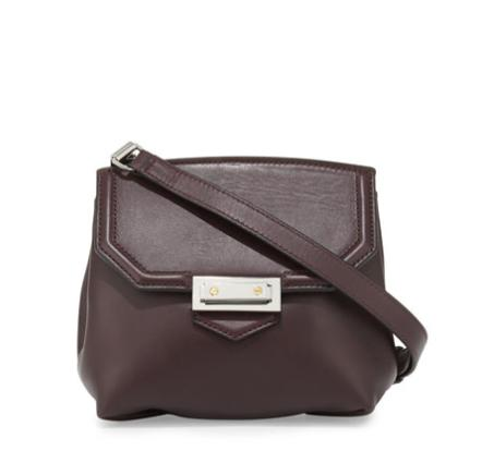 Alexander Wang Prisma Marion Leather Flat-Bottom Crossbody Bag, Oxblood @ Neiman Marcus