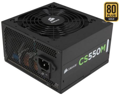 $39.99 CORSAIR CSM Series CS550M 550W 80 PLUS GOLD Certified Power Supply
