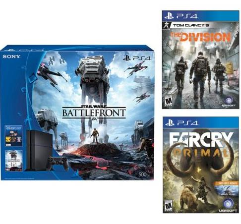 $399 Playstation 4 Star Wars 500GB Console +Far Cry Primal+ Tom Clancy's Division