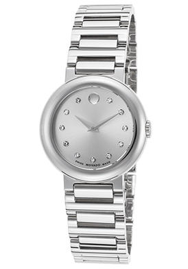 Movado Women's Concerto Diamond Stainless Steel Silver-Tone Dial