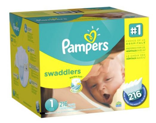$20.37 Pampers Swaddlers Diapers Size 5 Economy Pack Plus 124 Count