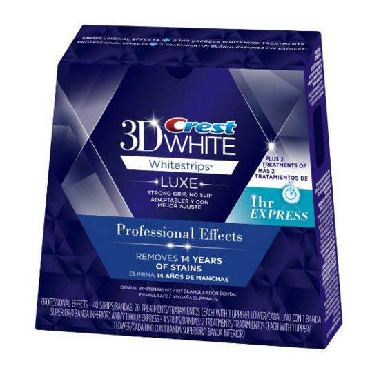 $36.99 Crest 3D White Luxe Whitestrips Professional Effects 20 Treatments + 3D White Whitestrips 1 Hour Express 2 Treatments - Teeth Whitening Kit