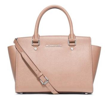 MICHAEL MICHAEL KORS  Selma Medium Saffiano Leather Satchel
