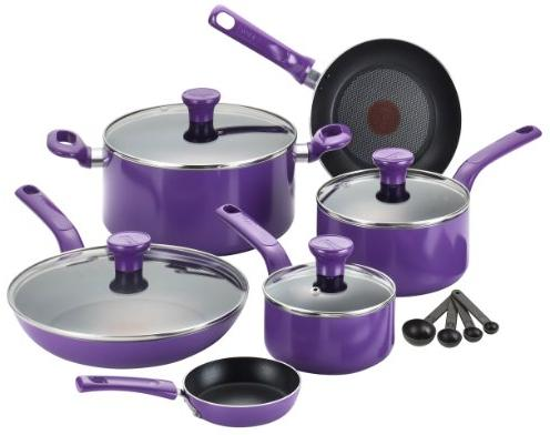 T-fal C970SE Excite Nonstick Thermo-Spot Cookware Set, 14-Piece