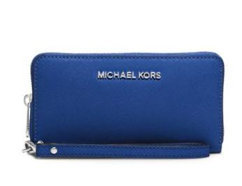 Michael Kors Jet Set Travel Large Saffiano Leather Smartphone Wristlet