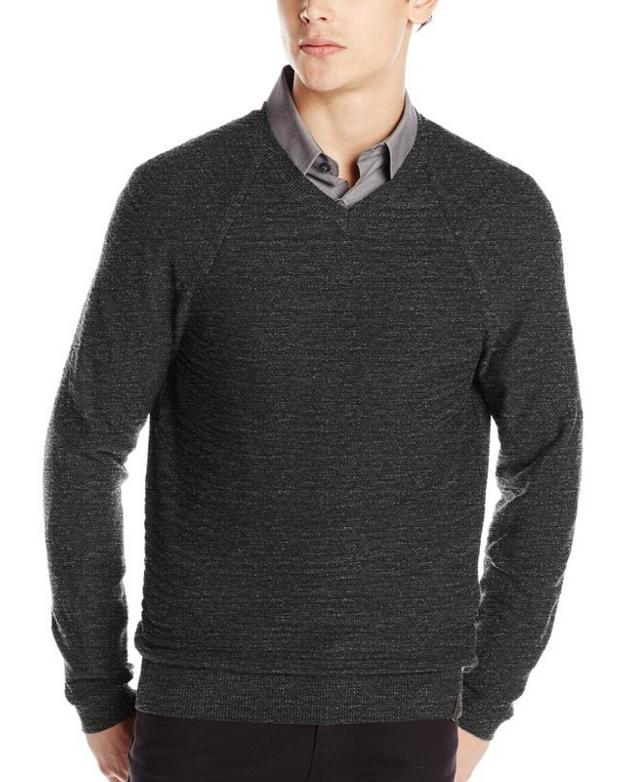 Calvin Klein Jeans Men's Texture V-Neck Sweater @ Amazon
