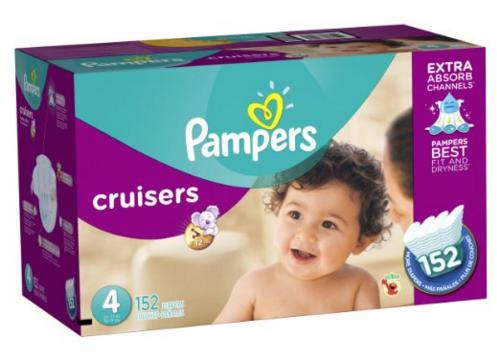 $26.43 Pampers Cruisers Diapers Economy Plus Pack, Size 4, 152 Count